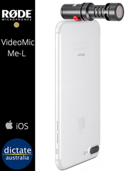 Rode VideoMic Me-L - Professional Audio for iOS Video or Audio