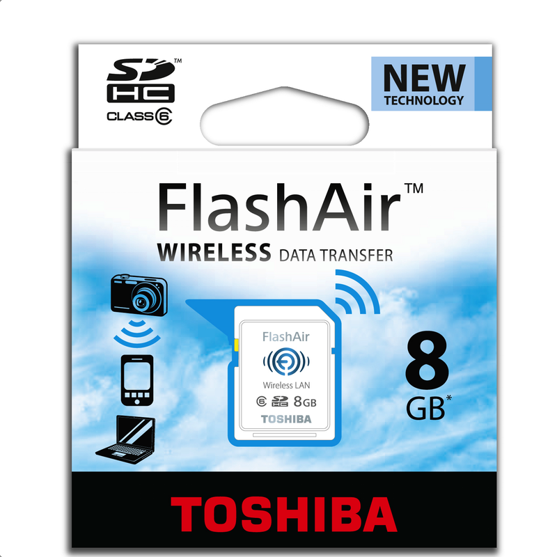 Toshiba 8Gb FlashAir Card for Olympus DS-7000 and DS-3500 | Dictate