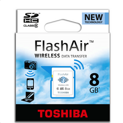 Toshiba 8Gb FlashAir Card for Olympus DS-7000 and DS-3500