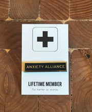 Load image into Gallery viewer, Enamel Pin: Anxiety Alliance