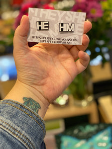 Enamel Pin: He/Him Pronoun Pins