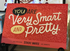 Sticky Note Set - You are very Smart and Pretty