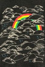 Load image into Gallery viewer, Hoodie - Rainbow on Heather Black