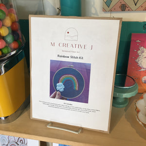 DIY Craft Kit - Embroidery - Whimsical Rainbow
