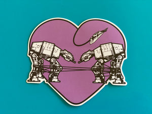 Die Cut Sticker - Love AT-AT First Sight - Mauve / Light Purple
