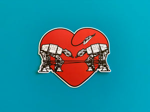 Die Cut Sticker - Love AT-AT First Sight - Red