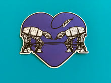 Load image into Gallery viewer, Die Cut Sticker - Love AT-AT First Sight - Dark Purple