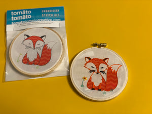 DIY Craft Kit: Fox Embroidery Kit