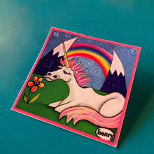 Load image into Gallery viewer, Sticker - Unicorn Under the Rainbow