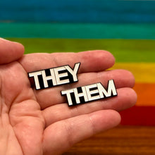 Load image into Gallery viewer, Enamel Pin: They/Them Pronoun Pins