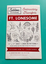Load image into Gallery viewer, BIG SHEET Embroidery Patterns - FT. LONESOME