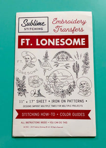 BIG SHEET Embroidery Patterns - FT. LONESOME