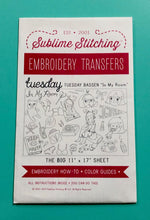 Load image into Gallery viewer, BIG SHEET Embroidery Patterns - TUESDAY BASSEN