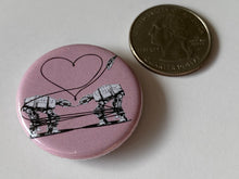 Load image into Gallery viewer, Magnet - 1.25 Inch: Love AT-AT First Sight - Pink