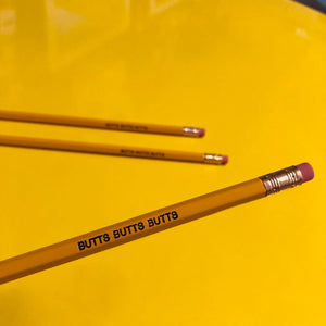 Pencil Three Pack - Butts Butts Butts