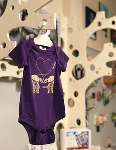 Onesie: Love AT-AT First Sight - Purple