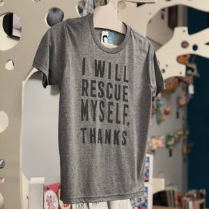 Youth Shirt: I Will Rescue Myself, Thanks