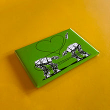 Load image into Gallery viewer, Magnet: 3x2 Inch - Love AT-AT First Sight - Green
