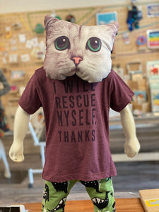 Toddler Shirt - I Will Rescue Myself, Thanks - Unisex Crew