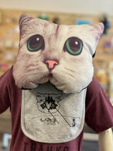 Load image into Gallery viewer, Bib - Meta Laser Cat - Gray