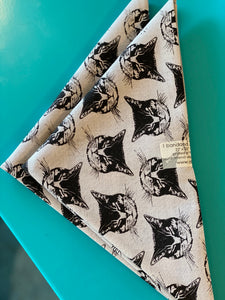 Bandana - Cats - Gray