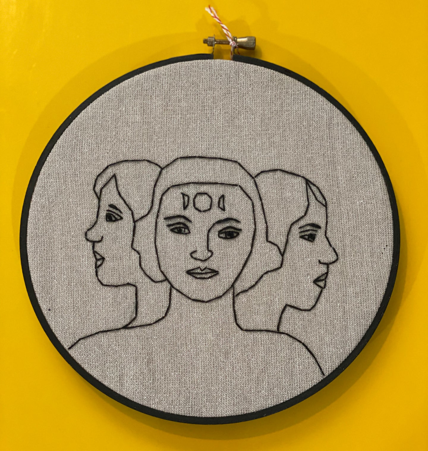 Embroidery - Three Headed Woman