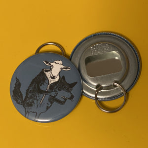Bottle Opener Keychain - Sheep In Wolf's Clothing