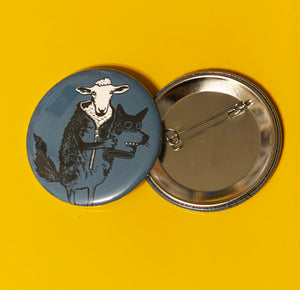 "2.25"" Button - Sheep in Wolf's Clothing"