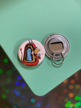 Load image into Gallery viewer, Bottle Opener Keychain - Russian Monster Ping Pong