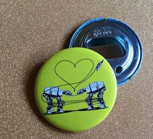 Bottle Opener Keychain - Love AT-AT First Sight - Yellow