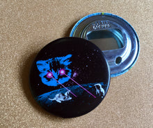 Load image into Gallery viewer, Bottle Opener Keychain - Meta Laser Cat Color