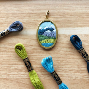 ONLINE CLASS: Stitch A Pacific Northwest Mountain Landscape Pendant