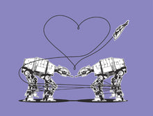 Load image into Gallery viewer, Postcard: Love AT-AT First Sight - Purple - Ten Pack