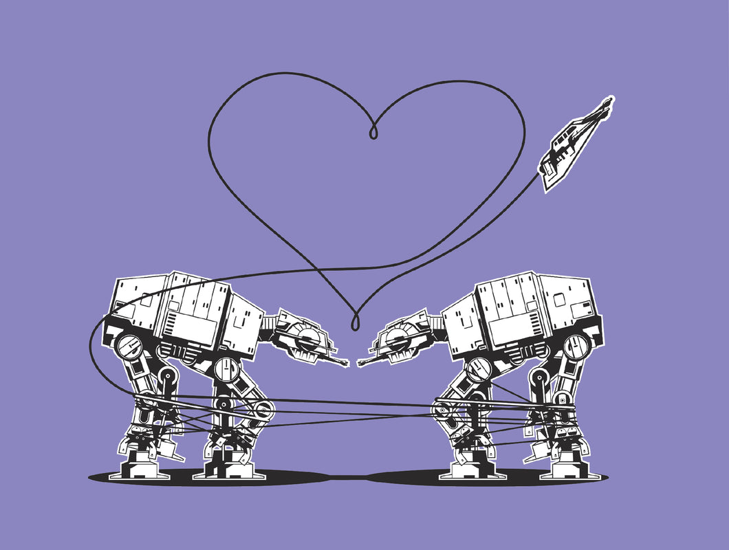 Postcard: Love AT-AT First Sight - Purple - Ten Pack