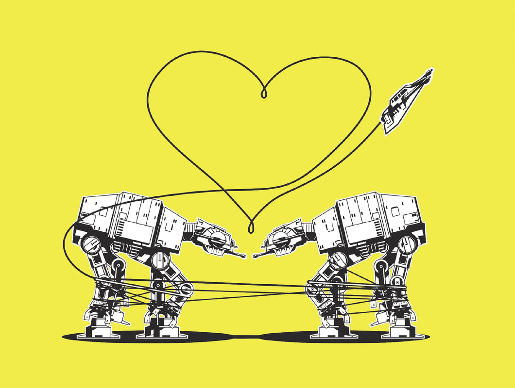 Postcard: Love AT-AT First Sight - Yellow - Ten Pack