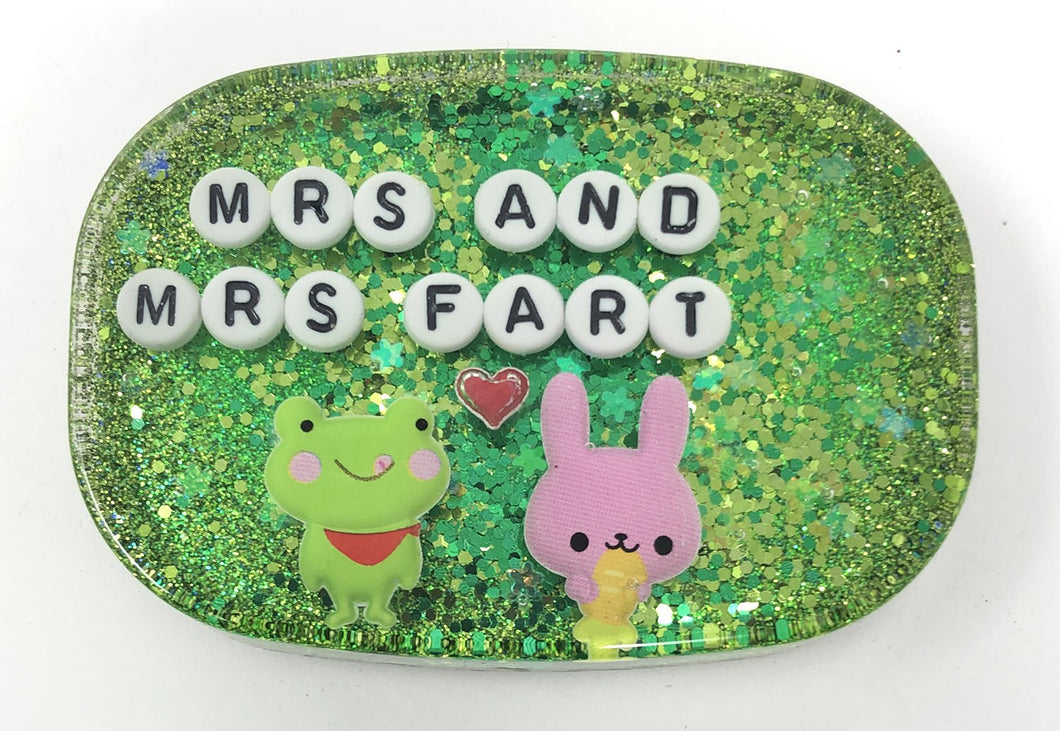 Mrs And Mrs Fart - Shower Art - READY TO SHIP
