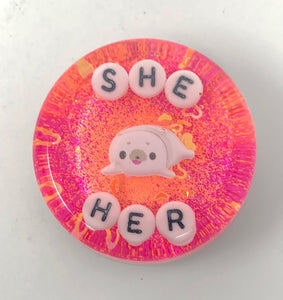 She/Her - Shower Art - READY TO SHIP