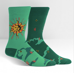 Sock - Large Crew: Sun and Moon