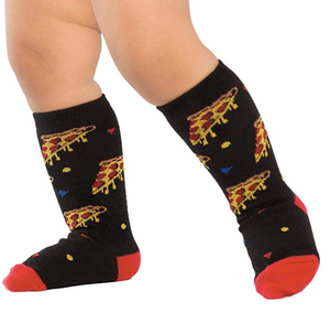 Sock - Toddler Knee:  Pizza Party