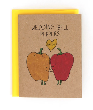 Card - Wedding Bell Peppers