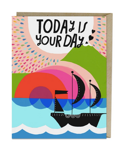 Card - Lisa Congdon Today is Your Day