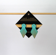 Load image into Gallery viewer, Earrings - Turquoise Drop Arrow