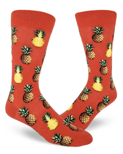 Sock - Large Crew: Pursuit of Pineapples - Coral