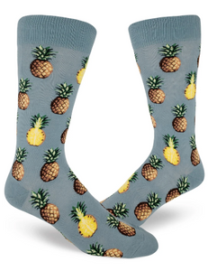 Sock - Large Crew: Pursuit of Pineapples - Slate Blue