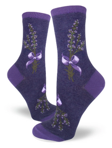 Sock - Small Crew: Lavender Harvest - Heather Purple