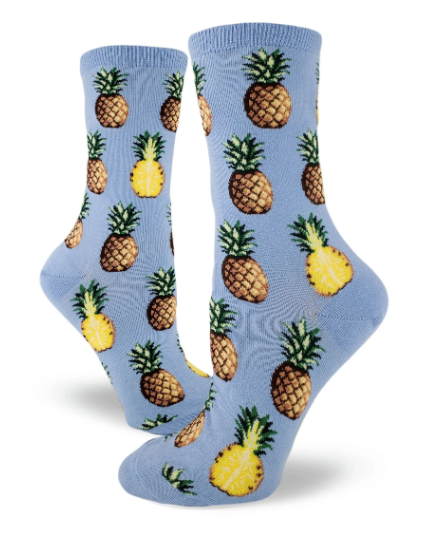 Sock - Small Crew: Pursuit of Pineapples - Bluebell