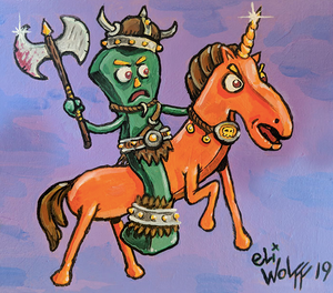 Print - Gumby The Barbarian