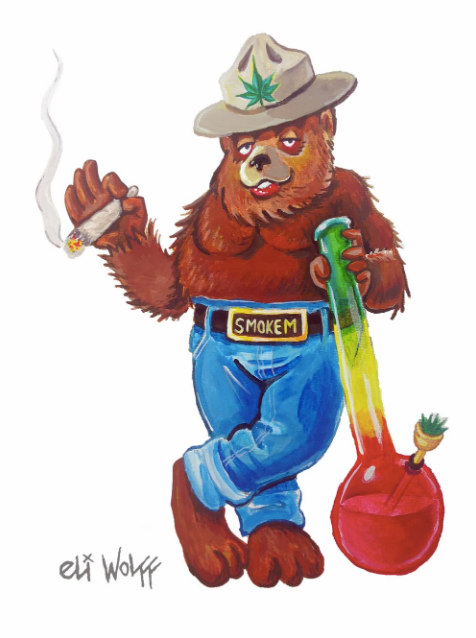 Print - Smoked Out Bear