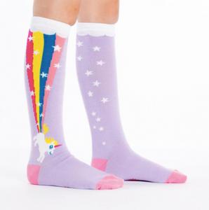 Sock - Junior Knee: Rainbow Blast