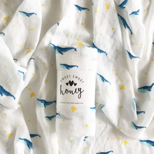 Load image into Gallery viewer, Baby Swaddle Blanket - Humpback Whale